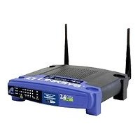 Linksys Wireless-G Broadband Router WRT54G - Wireless router + 4-port switchEN, Fast EN, 802.11b, 802.11g