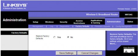 linksys-factory-defaults